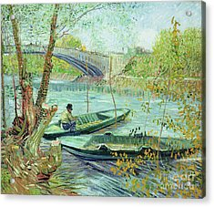 Fishing In The Spring Acrylic Print by Vincent Van Gogh