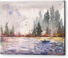 Fishing Acrylic Print by Kristina Vardazaryan