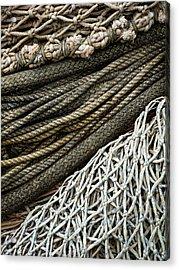 Fishing Nets Acrylic Print by Carol Leigh