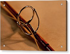 Fishing Pole Ring Acrylic Print by Wilma  Birdwell