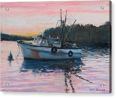 Fishing Trawler At Rest Acrylic Print by Jack Skinner