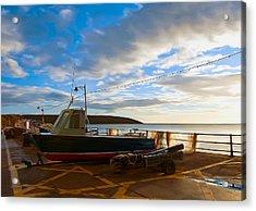 Fishing Village Filey Acrylic Print by Svetlana Sewell
