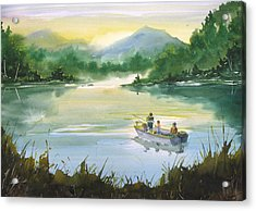 Fishing With Grandpa Acrylic Print by Sean Seal