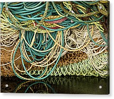 Fishnets And Ropes Acrylic Print by Carol Leigh