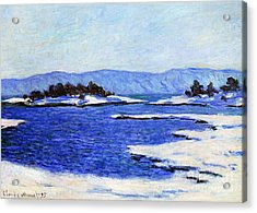 Fjord At Christiania Acrylic Print by Claude Monet