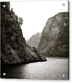 Fjord Beauty Acrylic Print by Dave Bowman