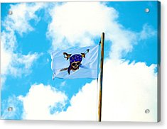 Flag Of A Pirate Acrylic Print by Lanjee Chee