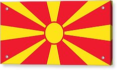 Flag Of Macedonia Acrylic Print by Unknown