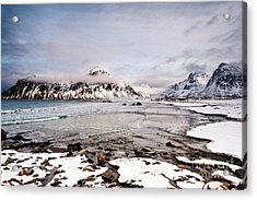 Flakstad Bay Acrylic Print by Janet Burdon