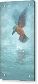 Flame In The Mist Acrylic Print by Steve Mitchell