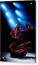 Flamenco Performance Acrylic Print by Richard Young
