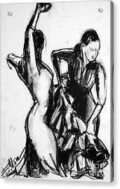 Flamenco Sketch 1 Acrylic Print by Mona Edulesco