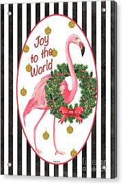 Flamingo Amore 2 Acrylic Print by Debbie DeWitt