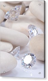 Flashing Diamond Acrylic Print by Atiketta Sangasaeng