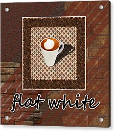 Flat White - Coffee Art Acrylic Print by Anastasiya Malakhova