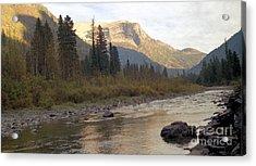 Flathead River Acrylic Print by Richard Rizzo