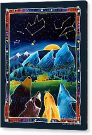 Flatirons Stargazing Acrylic Print by Harriet Peck Taylor