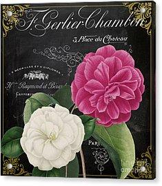 Fleur Du Jour Camellias Acrylic Print by Mindy Sommers