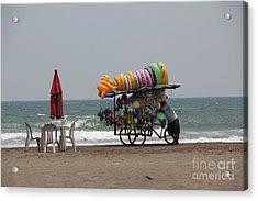 Floaties Veracruz Mexico Acrylic Print by Linda Queally