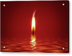 Floating Candlelight Acrylic Print by Wim Lanclus