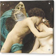 Flora And Zephyr Acrylic Print by William Adolphe Bouguereau