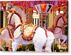 Floral Carousel  Acrylic Print by Art Spectrum