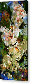Floral Fiction Acrylic Print by Hanne Lore Koehler