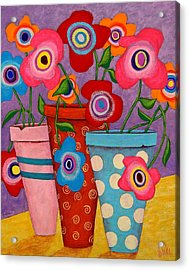 Floral Happiness Acrylic Print by John Blake