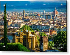 Florentine Vista Acrylic Print by Inge Johnsson