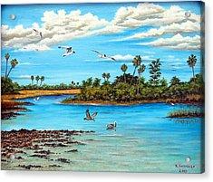 Florida Bayou Acrylic Print by Riley Geddings