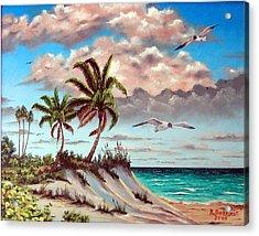 Florida Gulf Dune Acrylic Print by Riley Geddings