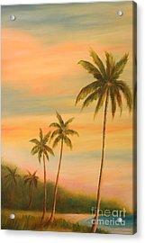 Florida Palms Trees Acrylic Print by Gabriela Valencia