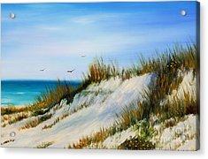 Florida Sand Dunes  Acrylic Print by Gabriela Valencia