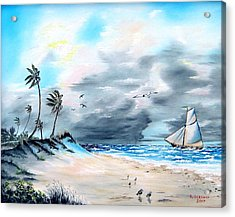 Florida Tempest Acrylic Print by Riley Geddings