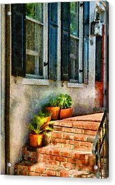 Flower - Plants - The Stoop  Acrylic Print by Mike Savad