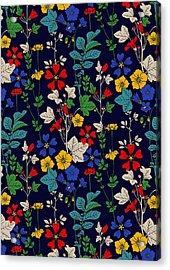 Flower Bed Acrylic Print by Sholto Drumlanrig