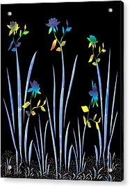 Flower Dance Acrylic Print by Kurt Van Wagner