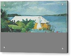 Flower Garden And Bungalow Bermuda Acrylic Print by Winslow Homer