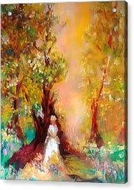 Flower Girl Acrylic Print by Patricia Taylor