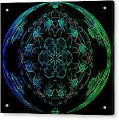 Flower Globe Acrylic Print by Evelyn Patrick