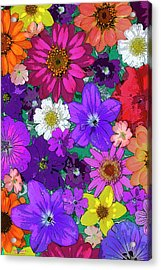 Flower Pond Vertical Acrylic Print by JQ Licensing