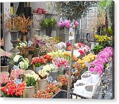 Flower Shop Amsterdam Acrylic Print by Reina Resto