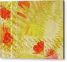 Flower Shower II Acrylic Print by Bonnie Bruno
