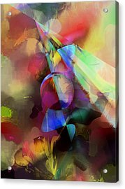 Flowers Acrylic Print by Contemporary Art