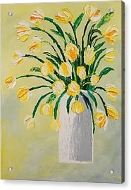 Flowers In A Vase Acrylic Print by Diann Blevins