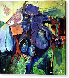 Flowers Acrylic Print by International Artist Joan Litsey