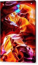 Flowing Acrylic Print by Az Jackson