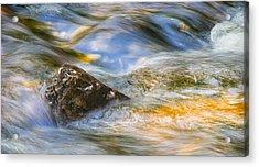 Flowing Water Acrylic Print by Adam Romanowicz