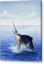 Fly Fishing For Sailfish Acrylic Print by Charles Harden