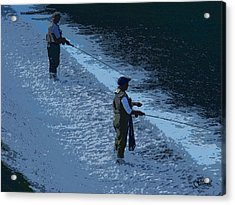 Fly Fishing Acrylic Print by Julie Grace